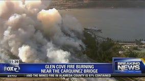 Fire closes the Carquinez Bridge