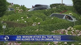 Governor vetoes proposal for tolls on Lombard Street