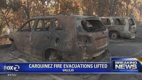 Evacuations lifted in the Vallejo Carquinez Fire
