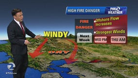 National Weather Service warns of more fire danger in the Bay Area this coming week