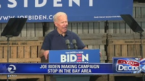 Joe Biden makes campaign stops around the Bay Area