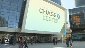 Eager fans arrive for first Golden State Warriors game at Chase Center