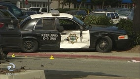 Man hit by out-of-control Redwood City police car dies