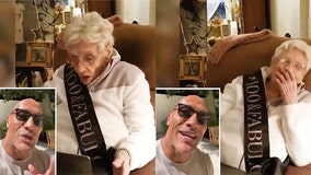 'The Rock' surprises '100 and fabulous' fan, singing happy birthday to her in viral video