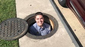 Chick-fil-A employee goes above and beyond to retrieve woman's phone from storm drain
