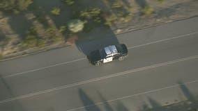 Police pursuing carjacked CHP cruiser in Tehachapi