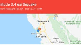 3.4-magnitude earthquake strikes near Pleasant Hill