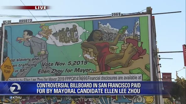 Billboard company pulls controversial ads from SF mayoral candidate