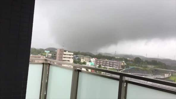 Powerful typhoon hits Japan