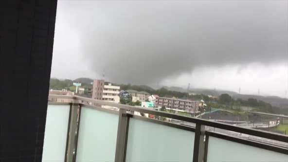 Massive typhoon pounds Japan