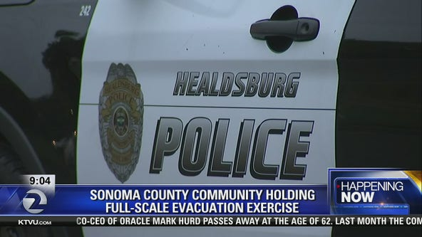 KTVU reporter Sara Zendehnam on full-scale evacuation drill for a community in Sonoma County, following devastating fires