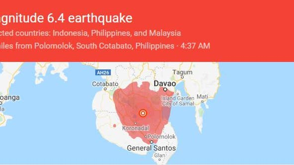 Strong earthquake strikes southern Philippines