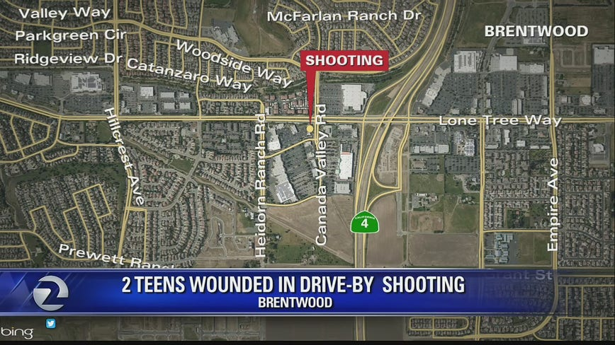 Two teens wounded in Brentwood drive-by shooting