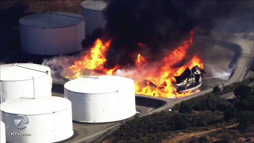 Fire officials contain stubborn Crockett energy facility fire, no injuries reported
