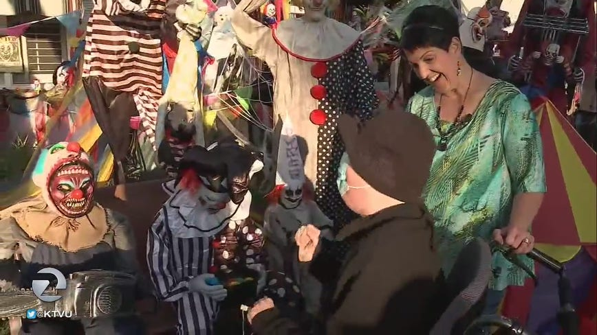 San Jose mother builds elaborate Halloween display for dying son