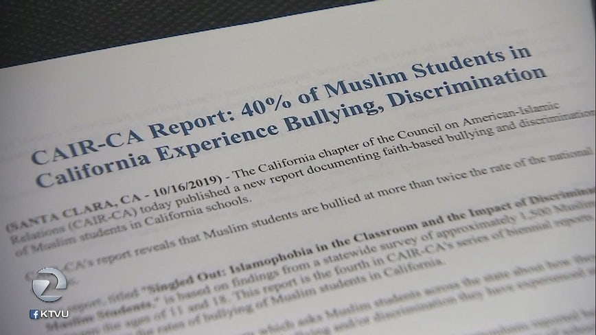 Muslim students in CA bullied at twice the nation's average, report finds