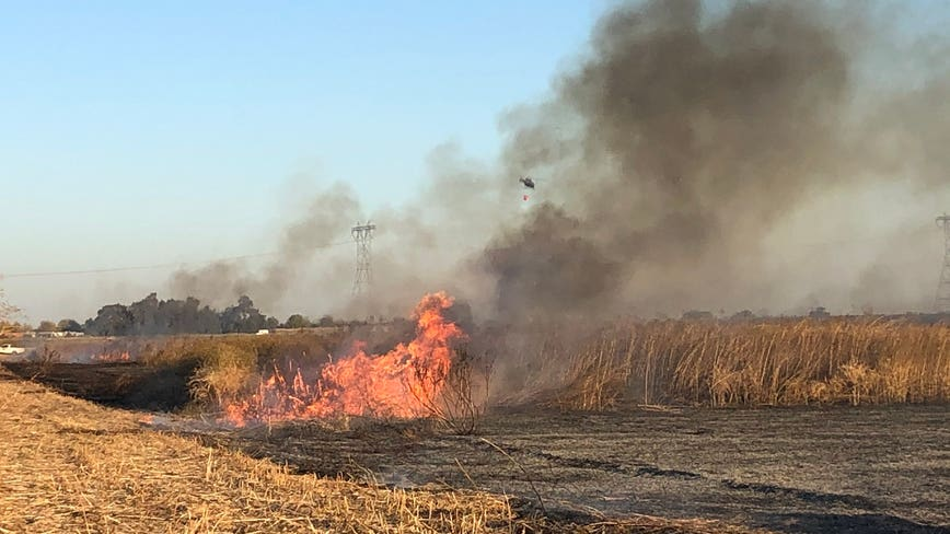100-plus acres burn in grass fire in unincorporated Brentwood