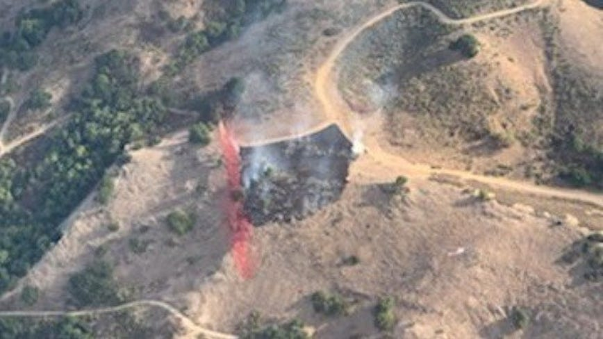 Crews contain grass fire south of San Jose that burned about four acres