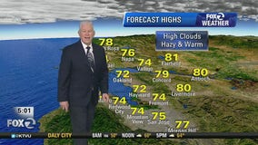 No rain in sight, temps in 60s and 70s