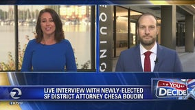 San Francisco's newly elected district attorney Chesa Boudin on KTVU's The Nine
