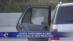Projectiles pelt vehicles driving along 101 in Monterey Co., 3 injured