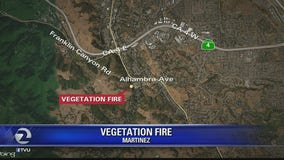 Fire crews contain 1-2 acre vegetation fire in Martinez