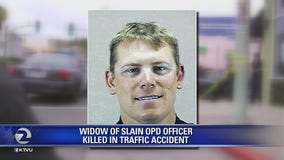 Widow of slain OPD officer killed in traffic accident