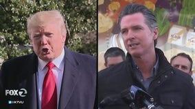 Trump criticizes Newsom, threatens to cut wildfire aid
