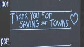 Gathering in Healdsburg to thank Kincade Fire first responders