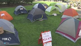Protest outside Oakland City Hall over treatment of homeless