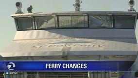 Weekend ferry service ends for the season