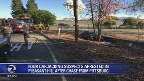 Four carjacking suspects arrested in Pleasant Hill after chase from Pittsburg