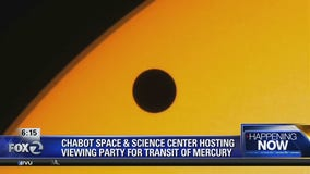 Mercury putting on rare show parading across the sun