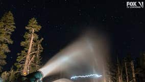 Tahoe-area resorts utilize favorable weather conditions for snow making