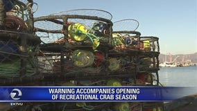 Warning accompanies opening of recreational crab season