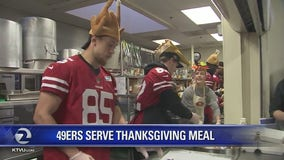49ers kick off season of giving with Thanksgiving meal for those in need