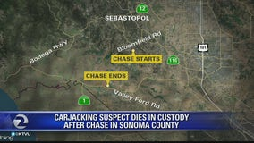 Carjacking suspect dies while in custody of Sonoma County sheriff's deputies