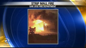 San Jose strip mall fire under investigation