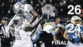 Raiders rally to beat Chargers 26-24