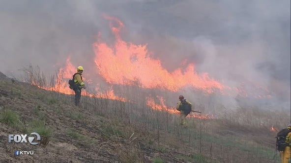Controlled burns in East Bay part of California's wildfire abatement project