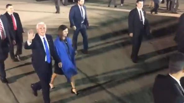 Vice President Mike Pence arrives in Bay Area to tour NASA's research center