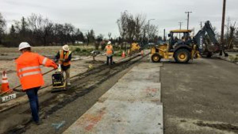 PG&E crews in Santa Rosa undergrounding lines