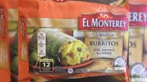55,000 pounds of frozen breakfast burritos recalled for possible plastic contamination
