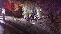 RAW: Three men killed in Orinda crash on Highway 24