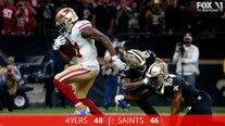 Gorropolo's 4 TD passes help 49ers top Saints, 48-46