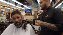 Homeless man's barbershop transformation goes viral