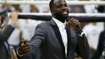 Draymond Green fights back tears at Michigan State jersey retirement