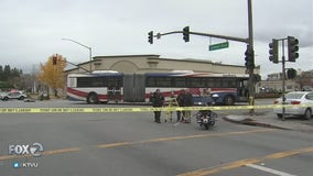 Transit investigators looking into Redwood City bus crash that killed 70-year-old woman