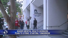 Kaiser mental health workers plan 5-day strike starting Monday
