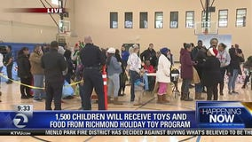 Public helps firefighters and police officers in popular Richmond toy giveaway